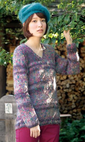 作品♪213fw-01Vネックのセーター