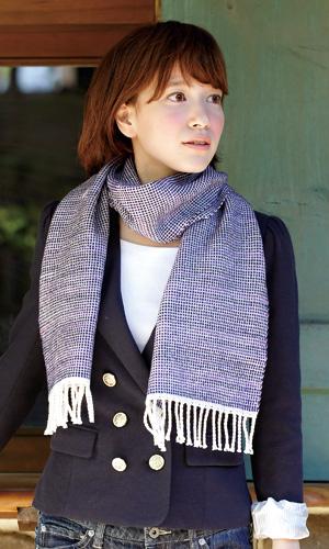 作品♪213fw-23うね織りのマフラー
