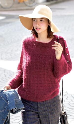 作品♪214w-07フレンチモヘヤセーター