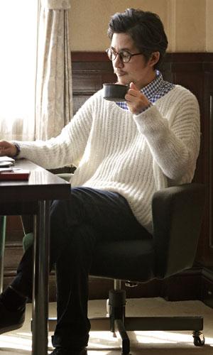 作品♪215w-08メンズワイドセーター