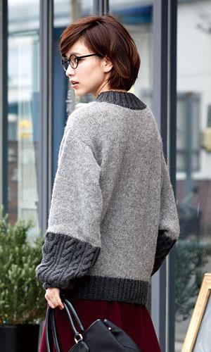 作品♪216aw-01切り替えセーター