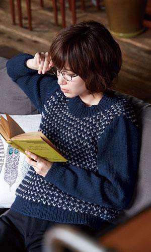 作品♪216aw-06イギリスゴム編みセーター