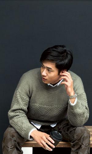 作品♪216aw-18ヘリンボーンセーター