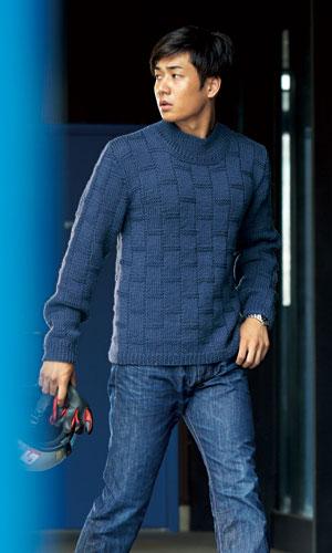 作品♪216aw-19ブロック模様のセーター