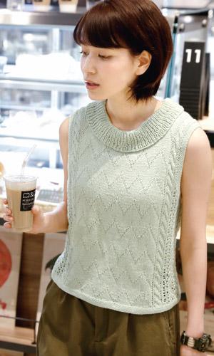 作品♪217ss-01スリーブレスセーター