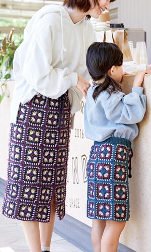 作品♪219aw-12モチーフスカート