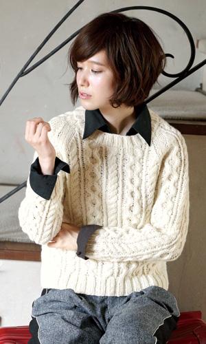作品♪217aw-05アラン模様のセーター