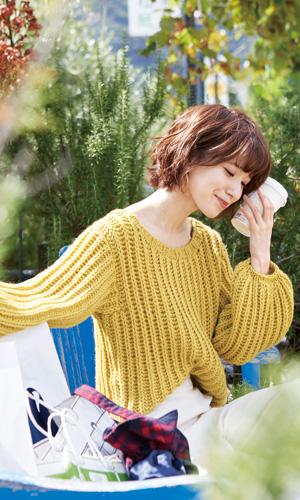 作品♪218aw-02イギリスゴム編みのセーター