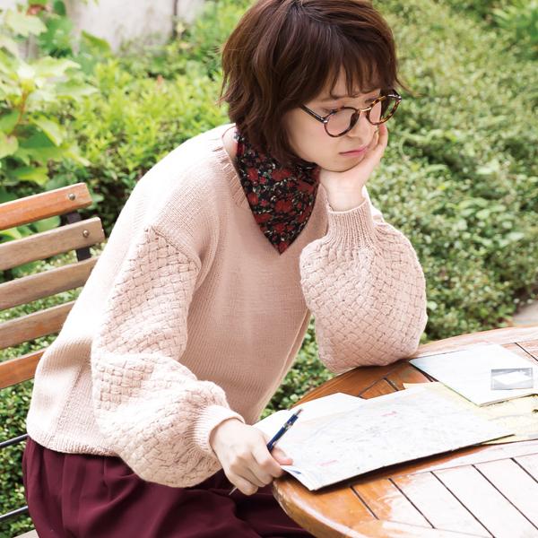 作品♪217aw-01バルーンスリーブセーター