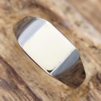 amp japan(アンプジャパン)シグネットリング 印台リング メンズピンキーリング 指輪シルバー ブラック 真鍮HYJK-243bk-brass【送料無料】