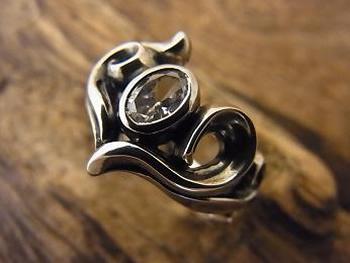 エムズコレクション(M's collection)ハート リング シルバー925 指輪メンズ レディースmc-757cz【送料無料】