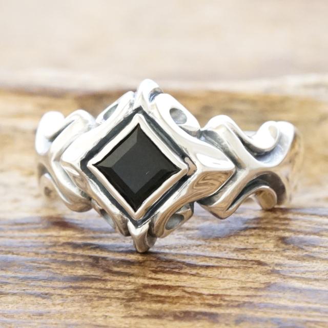 エムズコレクション(M's collection)オニキス リング メンズシルバー 925 指輪ハンドメイド ジュエリーシルバーアクセサリーXR-002ox【ギフト包装】【送料無料】