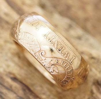 NORTH WORKS(ノースワークス)ゴールド コイン リング メンズ金 金貨 21.6金 k21.6 指輪20ドル ヴィンテージコインハンドメイド ジュエリーG-006【ギフト包装】【送料無料】