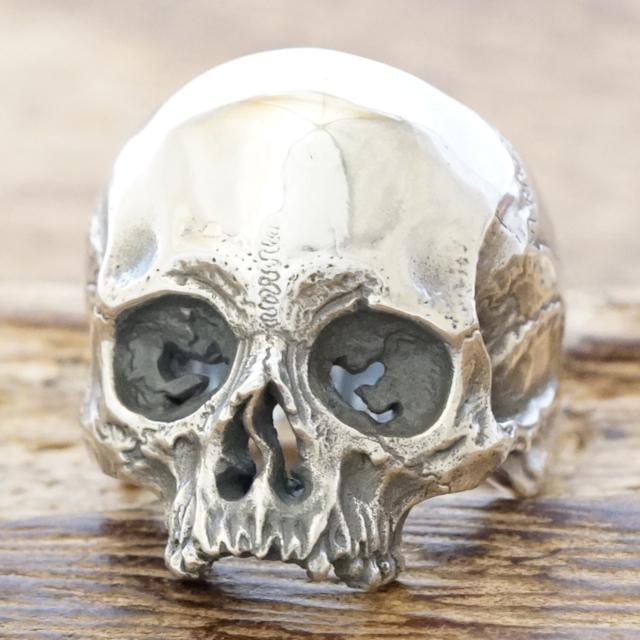 【あす楽】QUETZAL(ケツァール)リアル スカル リングシルバー 925 指輪 骸骨 ドクロヴィンテージ アンティークハンドメイド ジュエリーシルバーアクセサリー 銀 銀細工QL-R-31polish【ギフト包装】【送料無料】