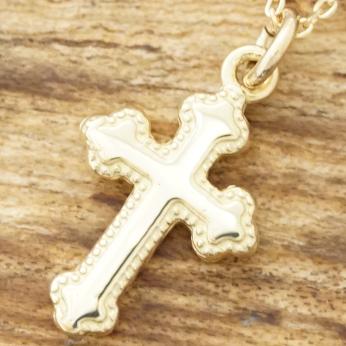 【あす楽】K18 金 ゴールド クロス ネックレス 十字架 メンズ レディースroi tresor rn-107k18【送料無料】