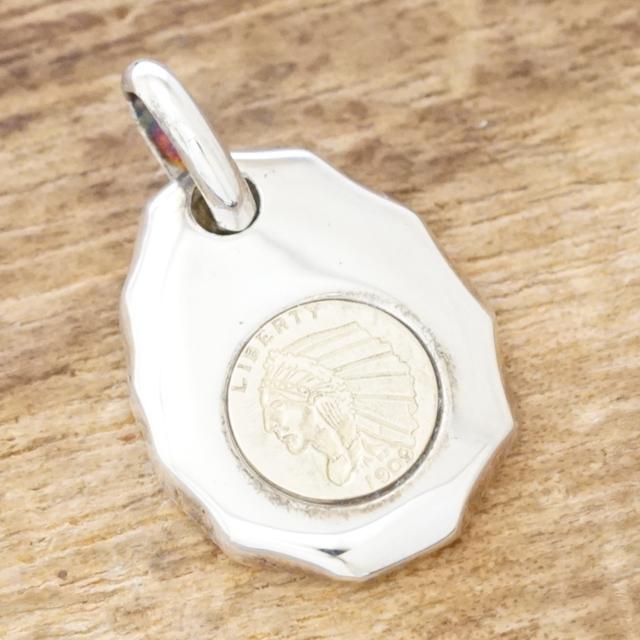 SALE 50 OFFあす楽 インディアン コイン ネックレスメンズ レディースシルバー 925 liberty メダル 叩きペンダント トップ シンプル プレーンハンドメイド ジュエリーシルバーアクセサリー 銀TJK S4688a ギフト包装XuwPOkZiT