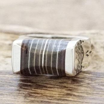 【あす楽】Tuareg silver(トゥアレグ シルバー)リング メンズ シルバー ウッド 指輪 トゥアレグ族ハンドメイド ジュエリー アクセサリーTA-142【送料無料】