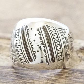 【あす楽】Tuareg silver(トゥアレグ シルバー)リング メンズ シルバー ウッド 指輪 トゥアレグ族ハンドメイド ジュエリー アクセサリーTA-146【送料無料】