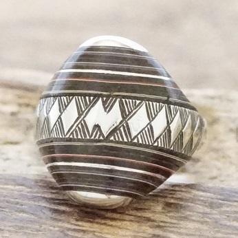 【あす楽】Tuareg silver(トゥアレグ シルバー)リング メンズ シルバー ウッド 指輪 トゥアレグ族ハンドメイド ジュエリー アクセサリーTA-147【送料無料】