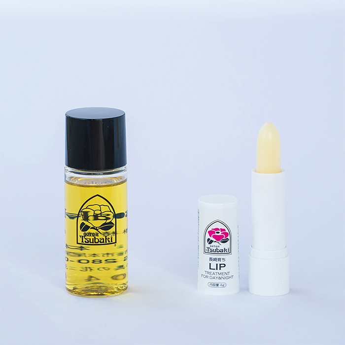 五島 椿 秀逸 本舗 椿油 オイル椿油の多機能オイルとリップクリーム 五島椿本舗 セット ギフト + 30ml 流行のアイテム リップ プレゼント