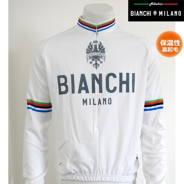【セール特価】BIANCHI ビアンキ 冬用 自転車 サイクルジャージ 0211944020 ホワイト4020(裏起毛)サイクルウェア