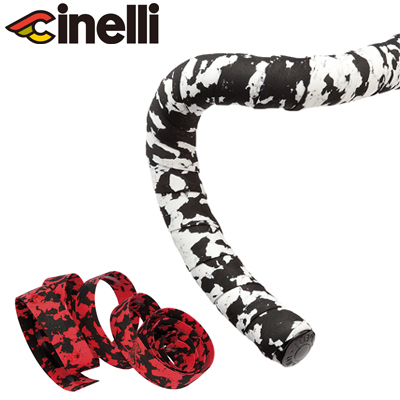 Cinelli MACRO SPLASH CORK Bicycle Handlebar Tape BLACK//RED
