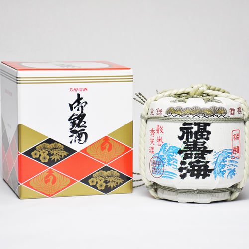 福寿海 2升樽 上撰 3600ml 菰樽(こもだる) ギフト 日本酒 鳥取 地酒 ギフト お歳暮 父の日 お中元 プレゼント用におすすめ