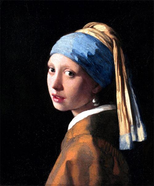 フェルメール 真珠の耳飾りの少女 プリキャンバス複製画 F8サイズ 好評受付中 ギャラリーラップ仕上げ 格安店