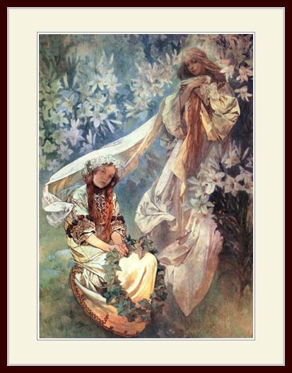 ミュシャ・「百合の聖母」