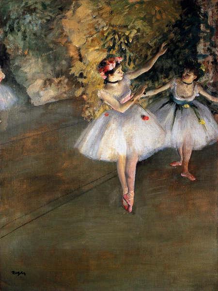 ドガ 舞台の二人の踊り子 プリキャンバス複製画 ランキング総合1位 在庫限り ギャラリーラップ仕上げ 6号サイズ