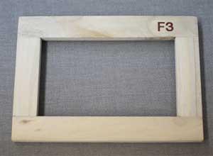 桐材・木枠 F3(273mm x 220mm)■格安!10個おまとめ買い■※本数追加は1個380円になります。