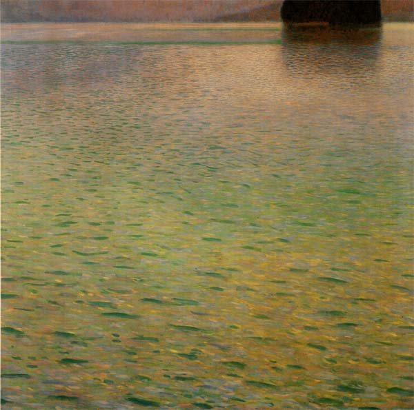 クリムト アッター湖の島 プリキャンバス複製画 6号サイズ ギャラリーラップ仕上げ 価格 交渉 送料無料 超目玉