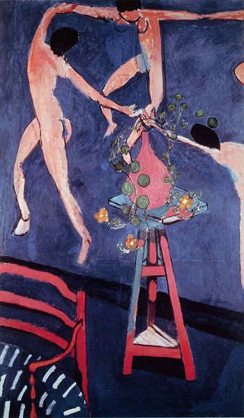 """マティス """"ダンス""""の絵とノウゼンハレンの花 プリキャンバス複製画 6号サイズ ギャラリーラップ仕上げ 豊富な品 格安 価格でご提供いたします"""