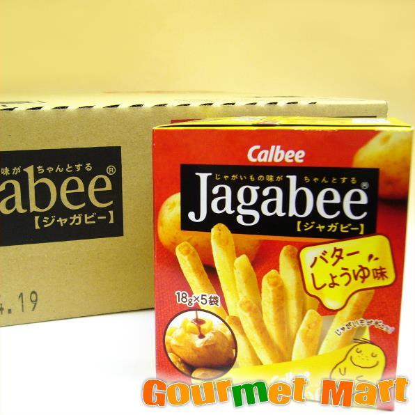 1箱karubijagabi(jagabee)黄油酱油味道(12个装)
