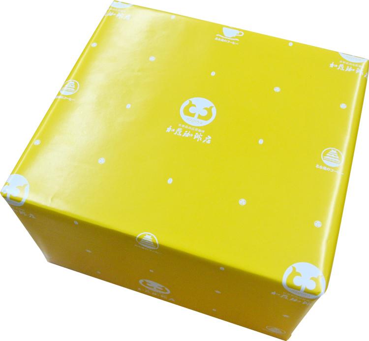 包装紙による包装(簡易ギフト箱付)/グルメコーヒー豆専門加藤珈琲店