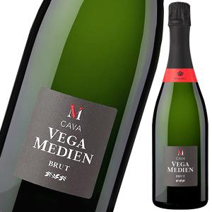 カヴァ スパークリングワイン 白ワイン シャンパン製法 シャルドネ バレンシア ベガ メディエン ブルット(カバ/泡白) のどごしの良い!余韻が長いスパークリングワイン