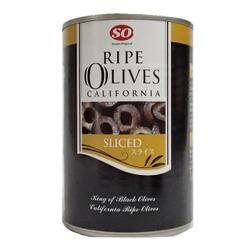 カルフォルニア産 SOスライス ライプオリーブ 4号缶 400gX24缶/ケース販売