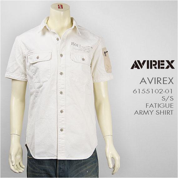 【送料無料】Avirex アビレックス 半袖 ファティーグ アーミーシャツ AVIREX S/S FATIGUE ARMY SHIRT 6155102-01【smtb-tk】