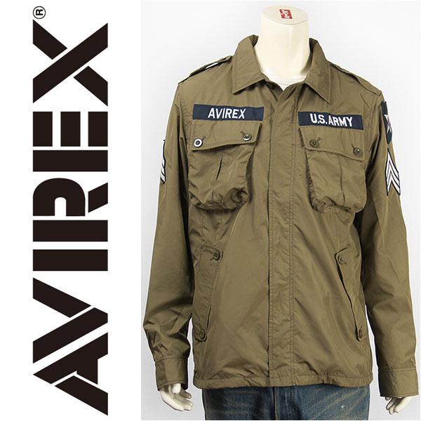 【送料無料】AVIREX アビレックス ポリエステル ジャングル ファティーグジャケット AVIREX POLYESTER JUNGLE FATIGUE JACKET 6162115-75【smtb-tk】
