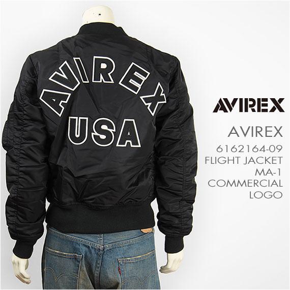 AVIREX アビレックス MA-1 コマーシャル ロゴ AVIREX MA-1 COMMERCIAL LOGO 6162164-09 【フライトジャケット・ミリタリー・送料無料】