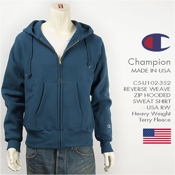 Usa GpaChampion Weave Made In Zip Sweat Parka Full 9IY2DHeWE