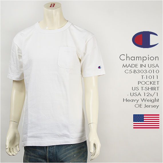Champion MADE IN USA チャンピオン T-1011 US 半袖 ポケットTシャツ Champion MADE IN USA T-1011 US POCKET T-SHIRT C5-B303-010
