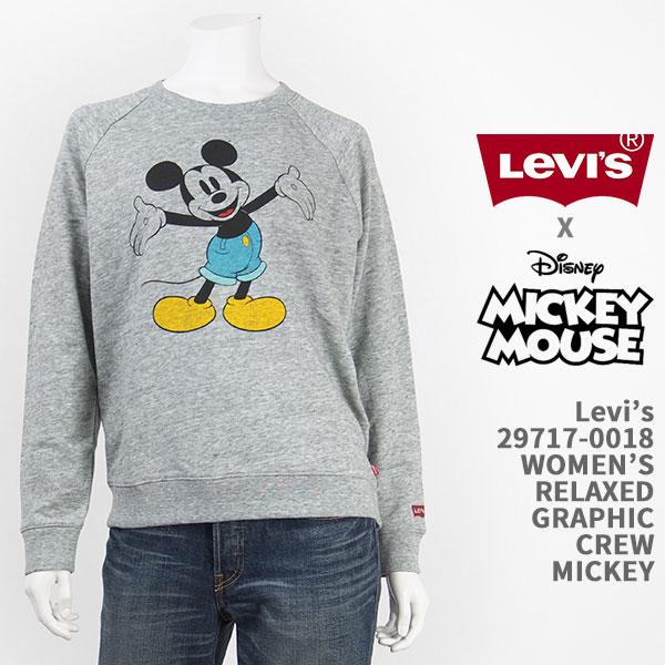 【国内正規品】Levi's リーバイス ミッキーマウス レディース リラックス スウェット Levi's x Disney COLLECTION MICKEY MOUSE WOMEN'S RELAXED GRAPHIC CREW 29717-0018【裏毛・パイル・トレーナー・クルーネック・送料無料】