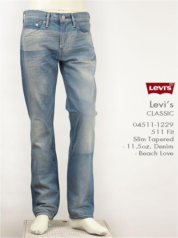 【送料無料】リーバイス Levi's 511 スリムテーパード 11.5oz.デニム ビーチラブ(ライトカラー) Levi's Classic 04511-1229 ジーンズ【smtb-tk】