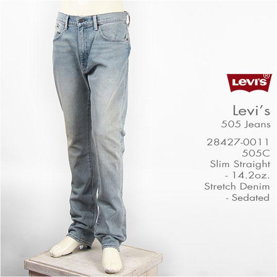 【国内正規品】Levi's リーバイス 505C カスタマイズド フィット スリムストレート ストレッチデニム ライトユーズド Levi's Jeans 28427-0011【カスタム・ジーンズ・送料無料】