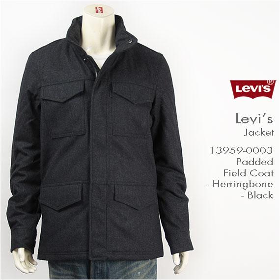 【国内正規品・送料無料】Levi's リーバイス パッデッド フィールドコート ヘリンボーン ブラック Levi's Jacket 13959-0003【smtb-tk】