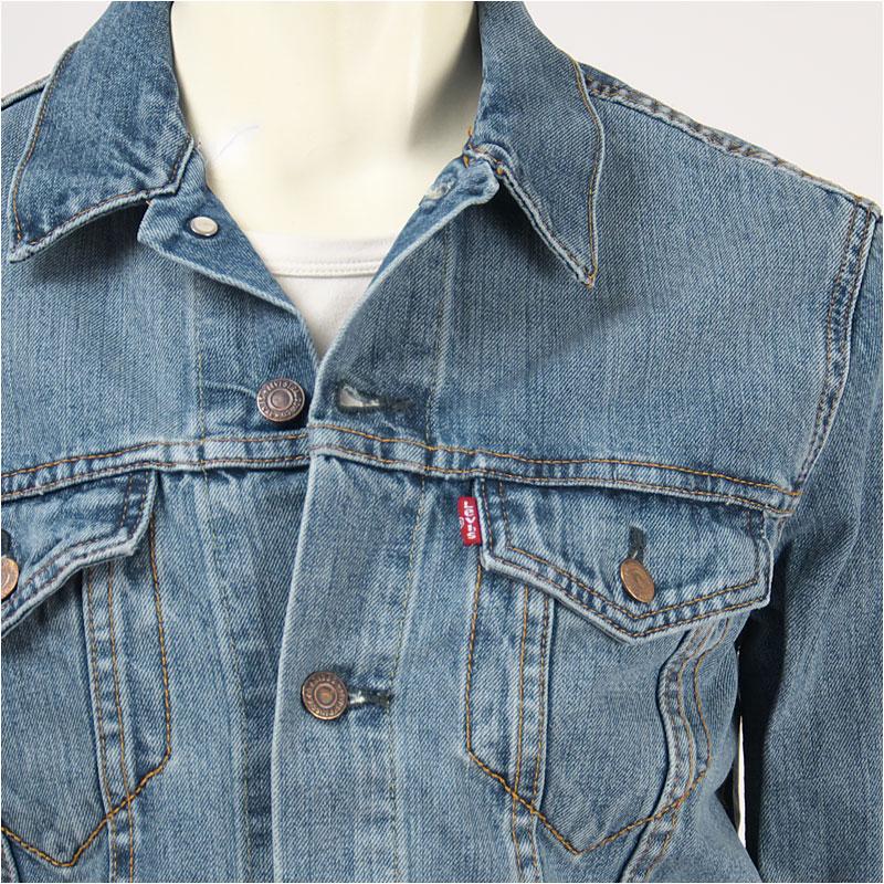 6c126b76d24a2 Levi s Levi s Tracker jacket icy 13.5 oz... denim light Indigo warning Levi s  Trucker Jacket 72334-0146 G Jean