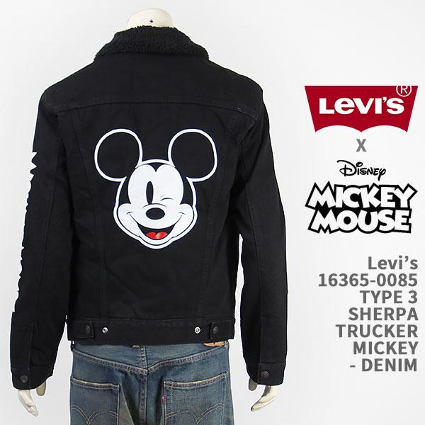 【国内正規品】Levi's リーバイス ミッキーマウス タイプ3 シェルパ トラッカー ジャケット コーンデニム Levi's x Disney COLLECTION MICKEY MOUSE TRUCKERS 16365-0085【ボア・Gジャン・デニムジャケット・送料無料】