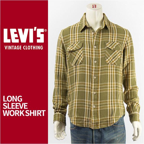 【国内正規品】LEVI'S リーバイス ワークシャツ チェック LEVI'S VINTAGE CLOTHING SHORT HORN SHIRT 23863-0011【復刻版・ビンテージ・ショートホーン・LVC・長袖・送料無料】