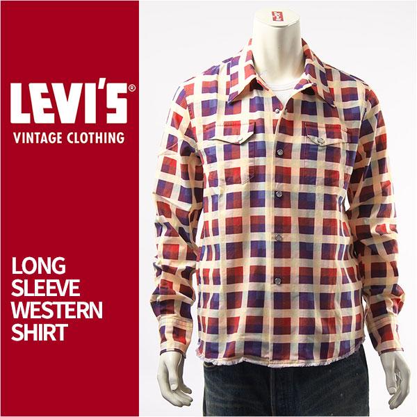 【国内正規品】LEVI'S リーバイス ウエスタンシャツ プリントチェック LEVI'S VINTAGE CLOTHING SHORT HORN SHIRT 29164-0000【LVC・長袖・送料無料】
